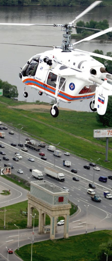 "MOSCOW, RUSSIA. MAY 15, 2013. Ka-226 on its way to Crocus EXPO for HeliRussia 2013 helicopter exhibition. (Photo ITAR-TASS / Marina Lystseva) –ÓÒÒˡ. ÃÓÒÍ'‡. 15 χˇ. ¬ÂÚÓÎÂÚ  ‡-226 'Ó 'ÂÏˇ ÔÓÎÂÚ‡ ̇ '˚ÒÚ‡'ÍÛ 'ÂÚÓÎÂÚÌÓÈ Ë̉ÛÒÚËË HeliRussia 2013 ' "" ÓÍÛÒ ›ÍÒÔÓ"". 'ÓÚÓ »""¿–-""¿——/ ÇË̇ À˚҈'‡"